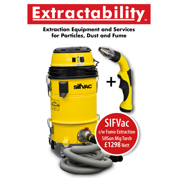 SIFVac Fume Extraction C/W Fume Torch £1298 Plus Vat